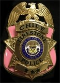 Firestone Police Department Pink Badge