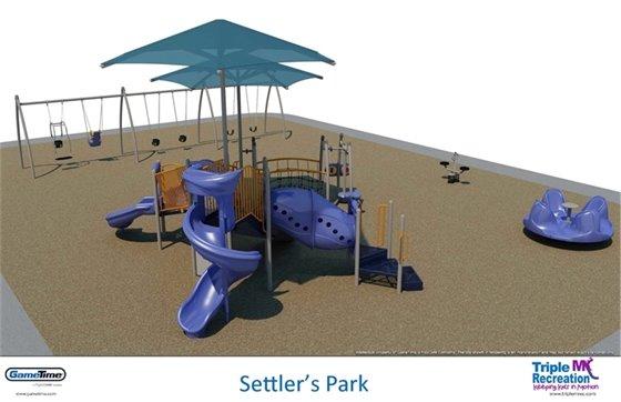 New Playgrounds at Settler's Park