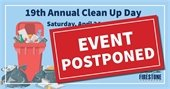 Clean Up Day Postponed
