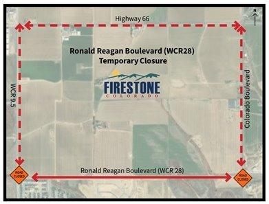 Temporary Closure of Ronald Reagan Boulevard
