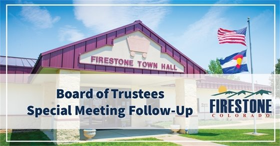 Board of Trustees Special Meeting Follow-Up
