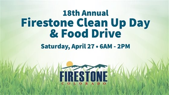 18th Annual Firestone Clean Up Day & Food Drive