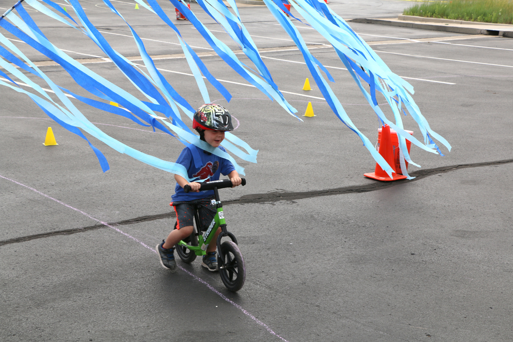 Police Bike Rodeo Child on bicycle