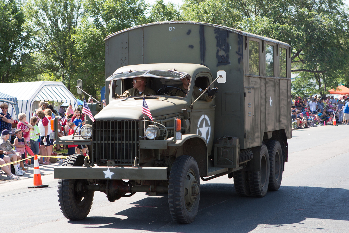 Army truck in parade