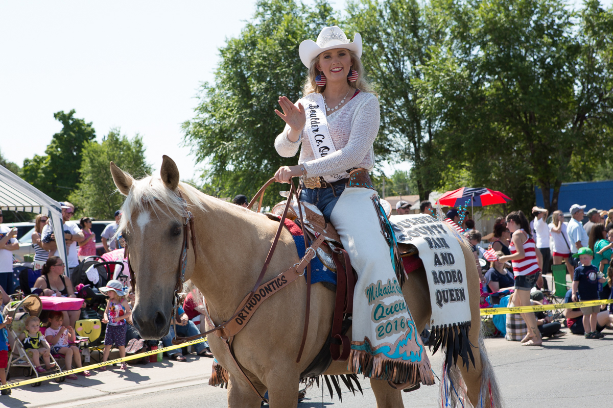 Rodeo Queen in parade