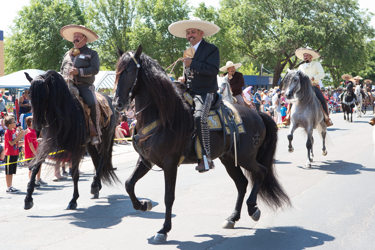 Horseback riders in the style of Mexico