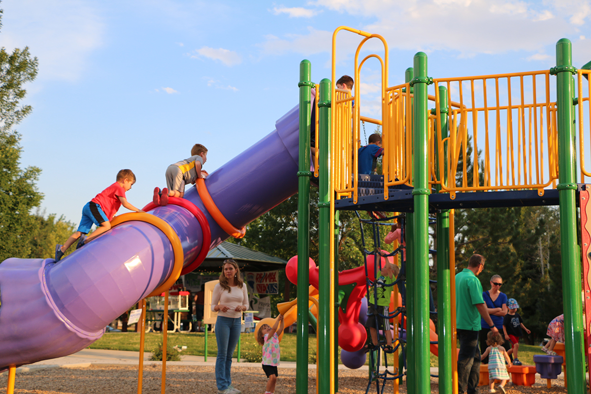 2016 Food and Flick children on playground