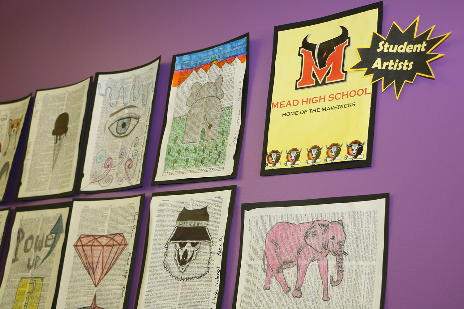 Mead High School Student Drawings