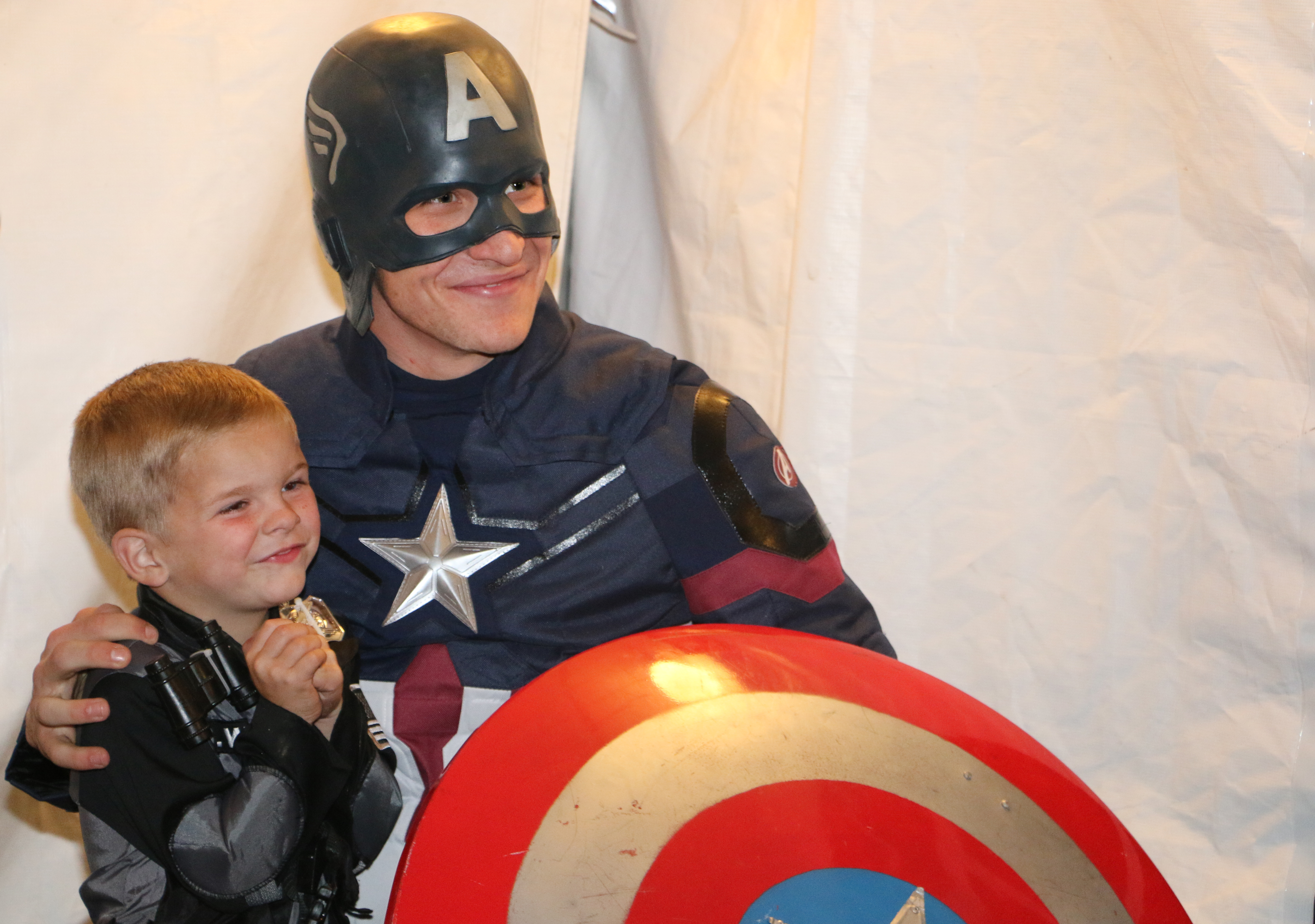 Captain America and child in costume