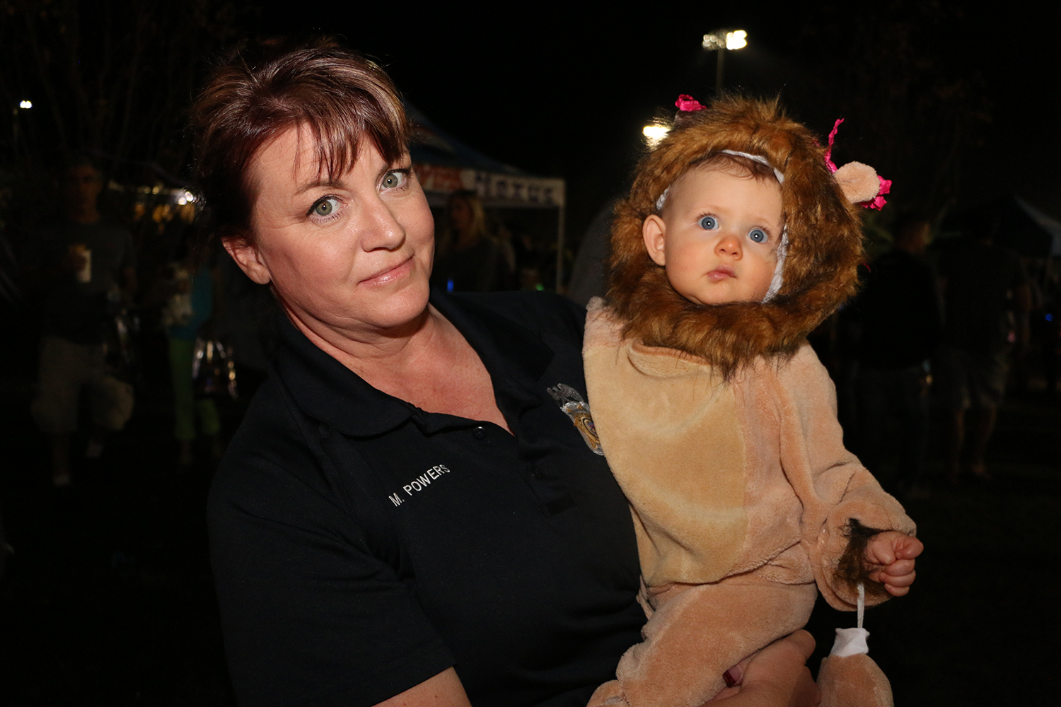 CSO Officer and small child in costume
