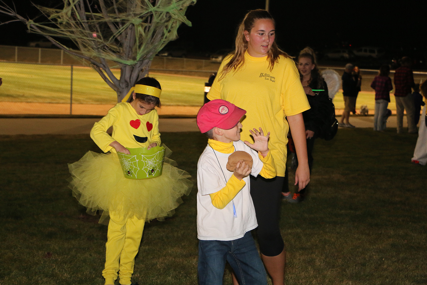 Children in costume at Halloween safe night