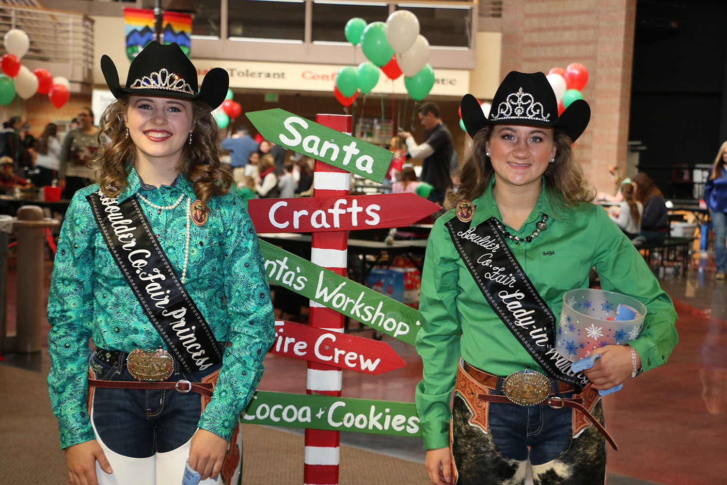 Rodeo queens at festival
