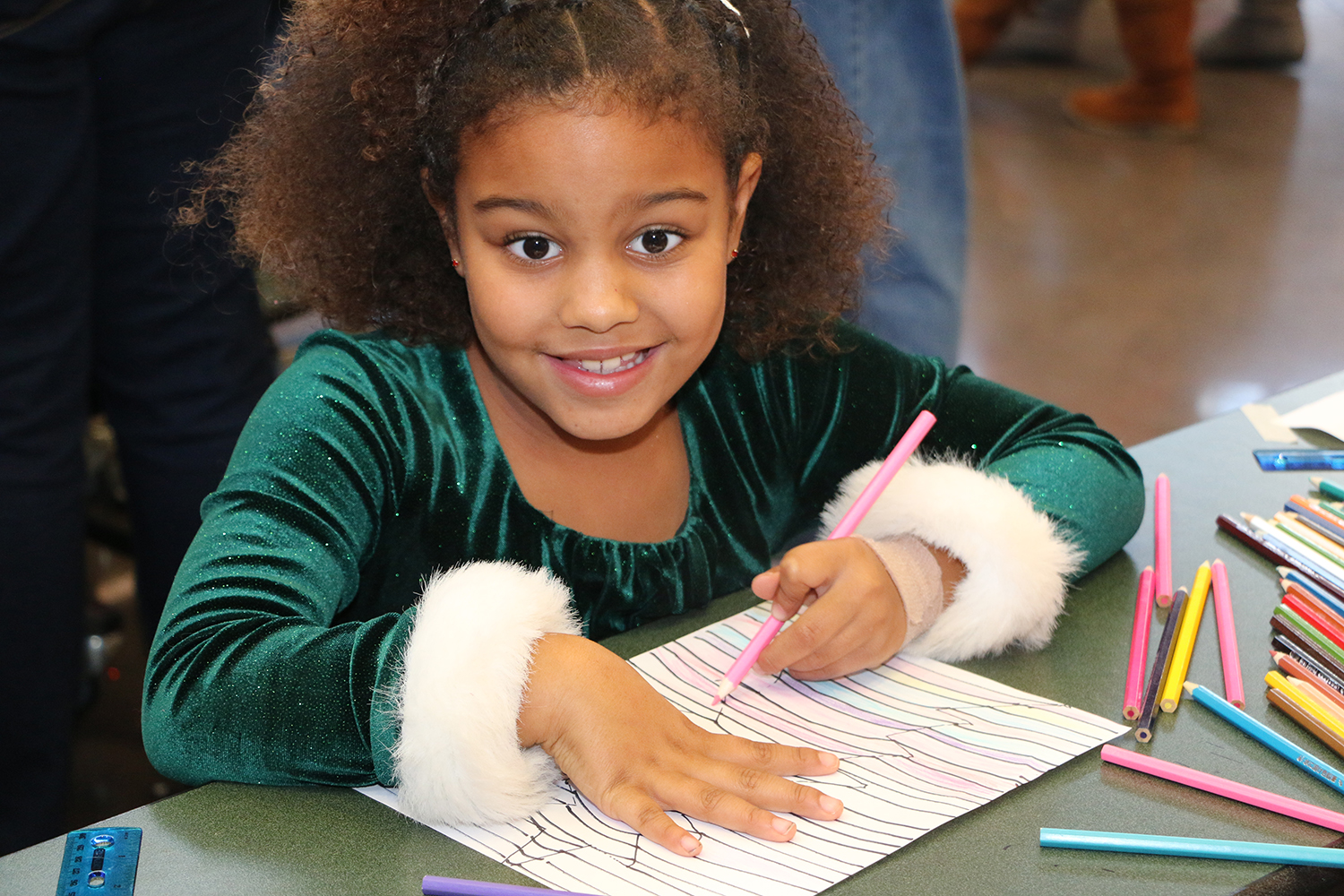 2016 Holiday Festival Children attending doing crafts