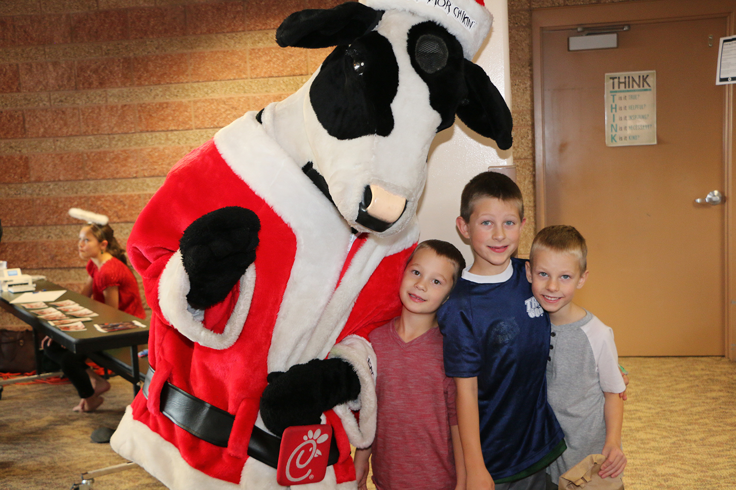 Chick Filet cow at Holiday Festival